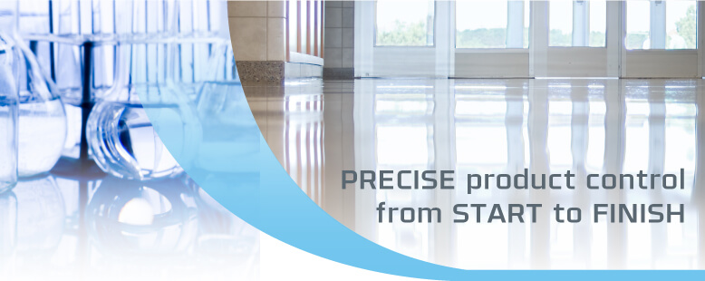 Precise product control from START to FINISH