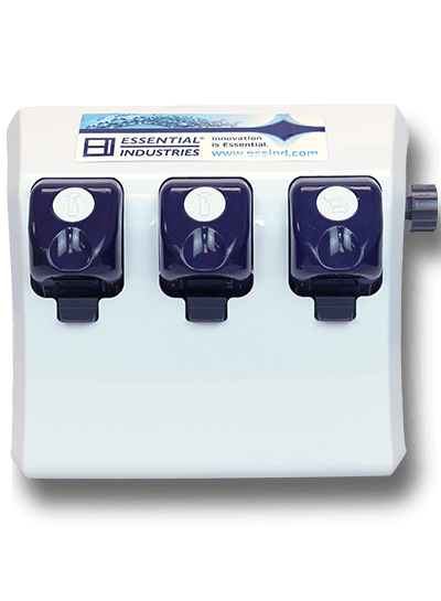 EMax Triple Button Dispenser