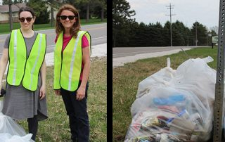 Essential Industries goes to help clean up the community