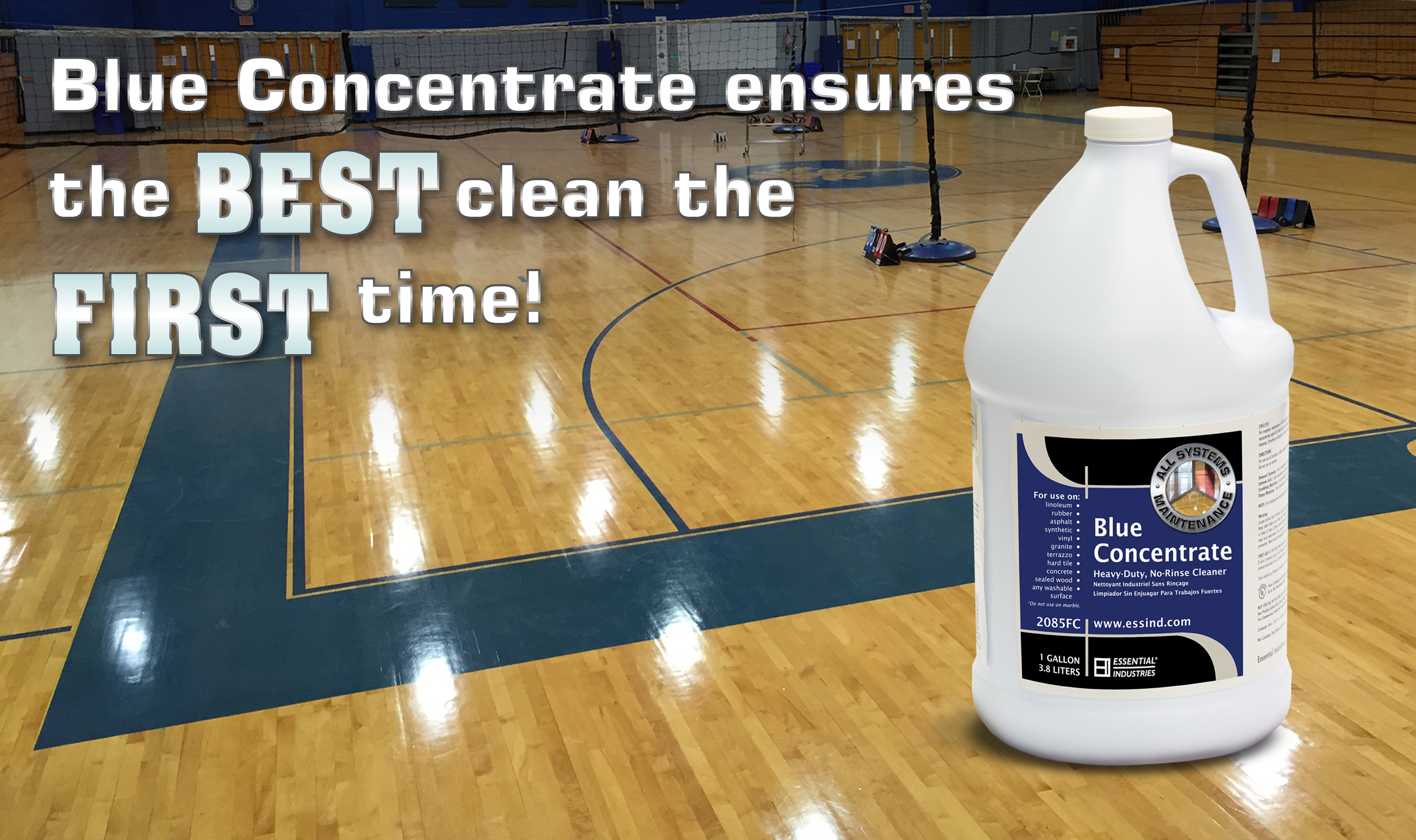 Blue Concentrate ensures the BEST clean the FIRST time!