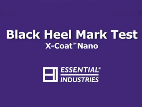 X-Coat Nano Black Heel Mark Test