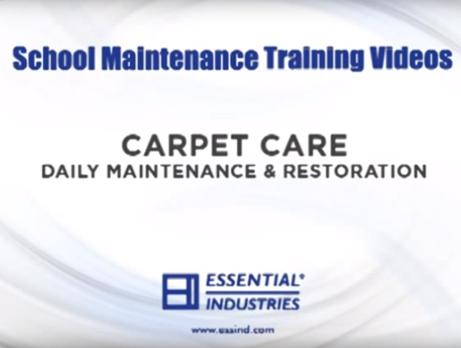 School Maintenance Training Videos: Carpet Care