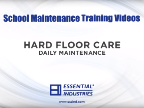 School Maintenance Training Videos: Hard Floor Care