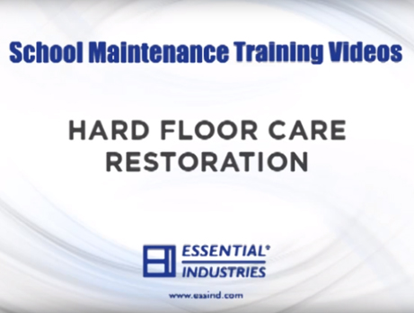 School Maintenance Training Videos: Hard Floor Care Restoration