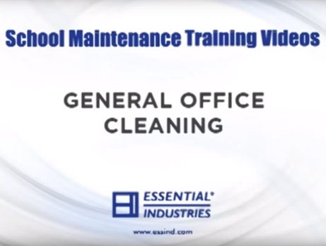 School Maintenance Training Videos: General Office Cleaning