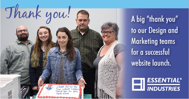 "A Big ""Thank You"" To our design and marketing teams for a successful website launch."