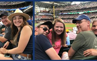 Essential Employees enjoying a Brewers Game