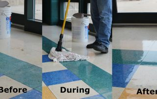 Blue Concentrate Before During and After, to repair Ice melter