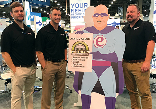 Some of our sales reps hanging with Captain essential at ISSA