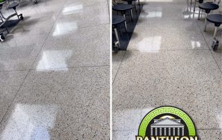 Showing the gloss of a few floors done with Pantheon Concrete Sealer